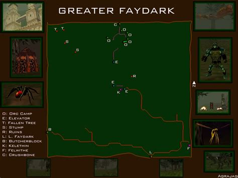 map of greater eq greater faydark with kelethin maps