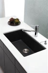 Undermount single bowl black onyx granite kitchen sink modern kitchen