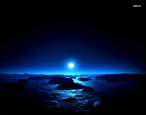 wallpaper blue night blue night sky and moon important wallpapers