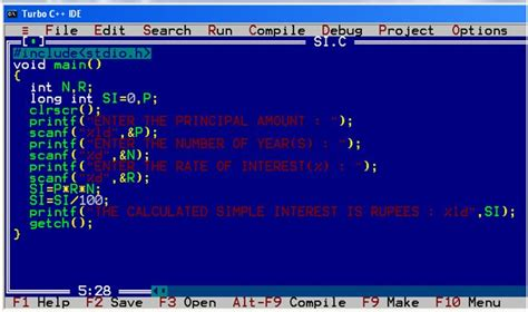 simple c an interactive c program to calculate simple interest
