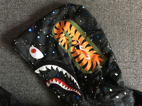 Bape Space Camo Shark Zip Hoodie a bathing ape bape space camo shark zip hoodie