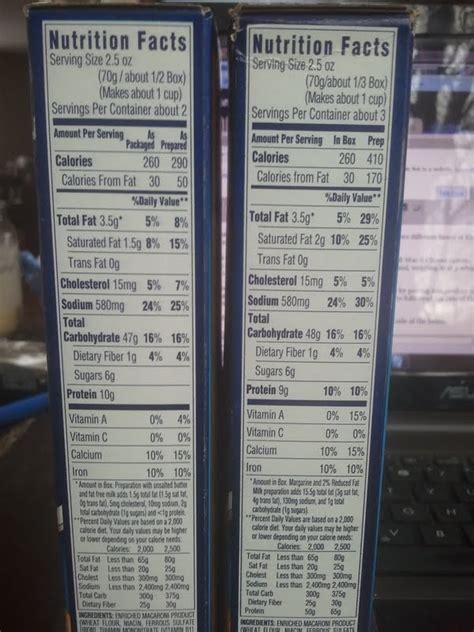 whole grain kraft macaroni and cheese nutrition kraft macaroni and cheese box nutrition facts on the left