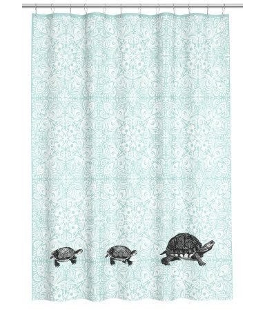 Hm Shower Curtain by Turquoise Turtle Shower Curtain Bathroom