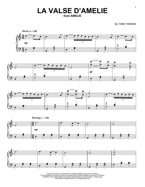 la valse d amelie piano tutorial la valse d amelie sheet music direct