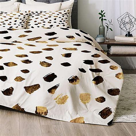 metallic gold bedding deny designs gold v03 comforter set bed bath beyond