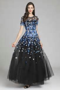 tulle gown with floral embellishments teri jon