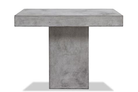 modern concrete dining table square concrete dining table modern furniture brickell
