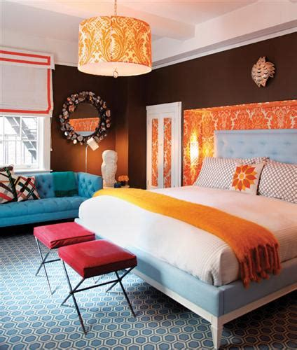 blue and orange bedroom panda s house