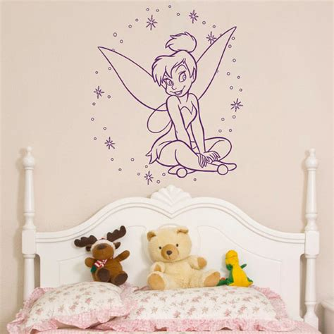 Wall Murals For Bedroom f 233 e clochette wall decal petite princesse silhouette f 233 e peter