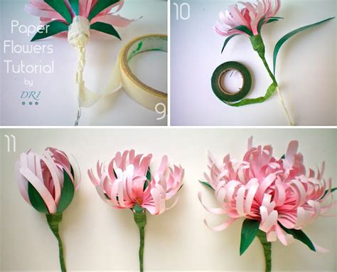 Paper Tutorial - paper flowers lightcameramonkey