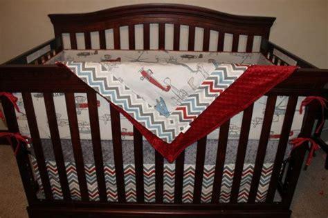 Baby Boy Chevron Crib Bedding Baby Boy Crib Bedding Vintage Airplane Pewter Chevron And Gray Crib Bedding Ensemble