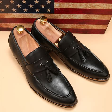 aliexpress buy luxury brand mens pointed toe dress