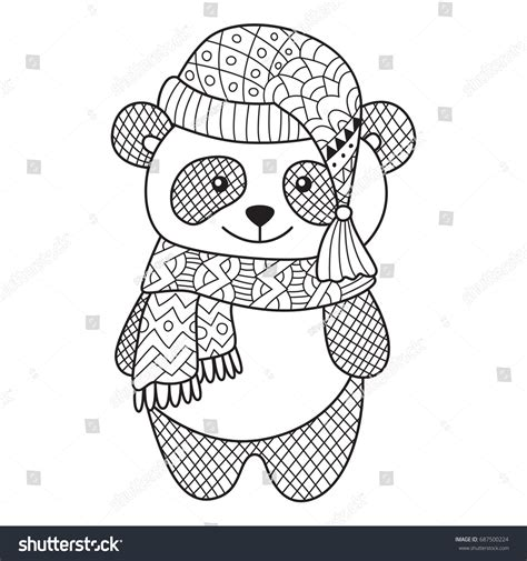anti stress coloring book doodle and color your stress away antistress doodle coloring page adorable panda stock