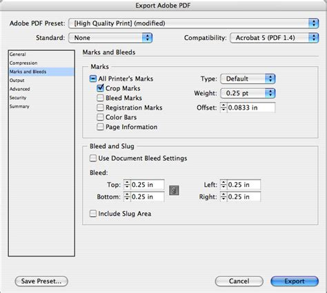 Show Crop Marks When Exporting A Business Card Pdf With Bleed In Indesign Peter S Useful Crap Indesign Business Card Template With Bleeds