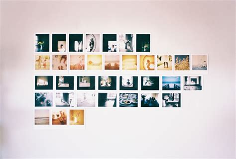 wire minipegs polaroid wall holiday project mark s image gallery polaroid wall