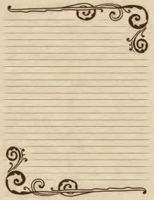 Victorian Writing Paper Lined Paper With A Victorian Inspired Brown Swirl