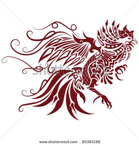 flying chicken tattoo awesome tribal rooster design jpg 450 215 470