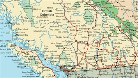 map canada bc karte kanada alberta columbia andalusien karte