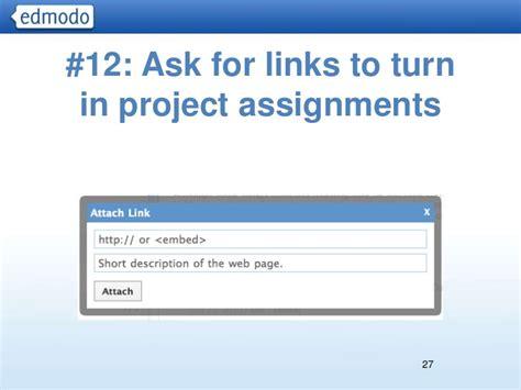 edmodo turn in assignments advanced edmodo