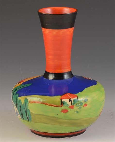 clarice cliff blue lugano shape 73 vase 1930