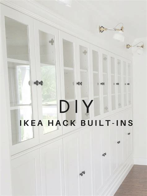 ikea built in cabinets avery street design blog diy summer ikea hack