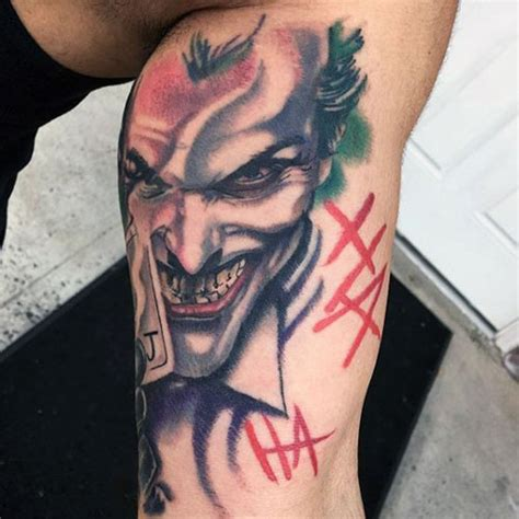 joker tattoo on arm 31 batman tattoos for men
