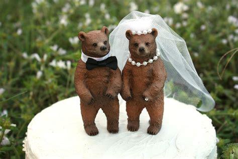 Wedding Bears by Wedding Cake Topper Lover Rustic Wedding
