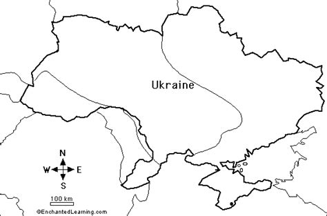 Ukraine Outline Map by Map Of Ukraine And Surrounding Countries