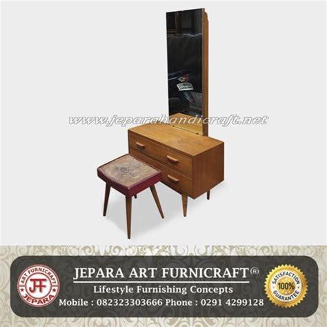 Satu Set Meja Kursi Rias Jepara Kayu Jati Free Ongkir Furniture Murah cashback meja rias scandinavian minimalis jati murah