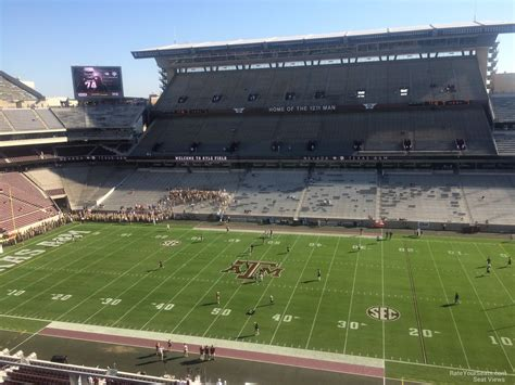 kyle field visitor section kyle field section 305 rateyourseats com