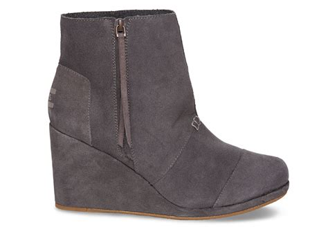 toms grey suede s desert wedge highs in gray