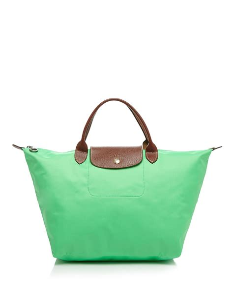 Le Pliage Green Msh longch tote le pliage medium handheld in green lyst