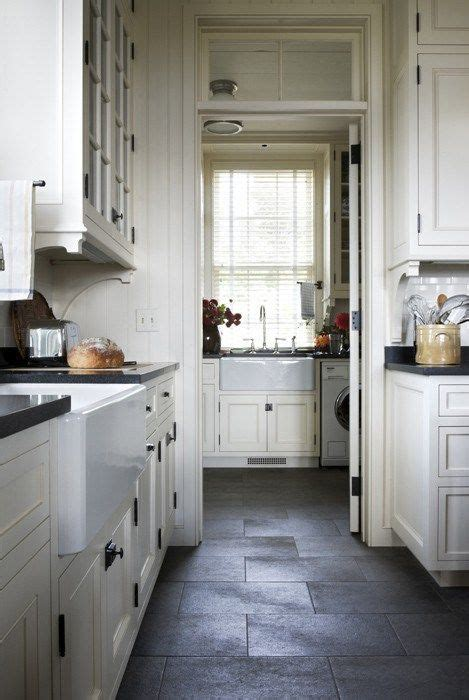dark gray kitchen floor porcelain tile