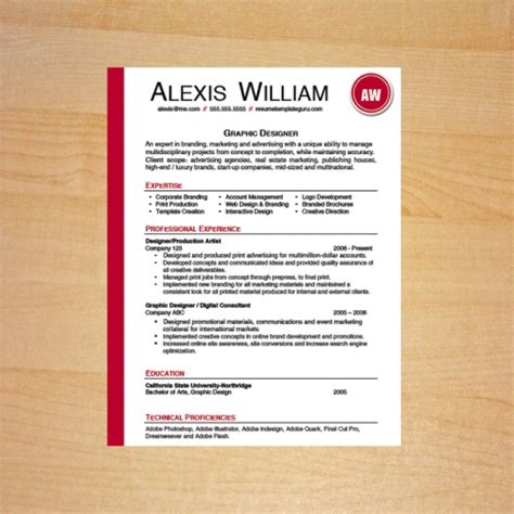 Resume Template Guru   High Quality Resume Templates That