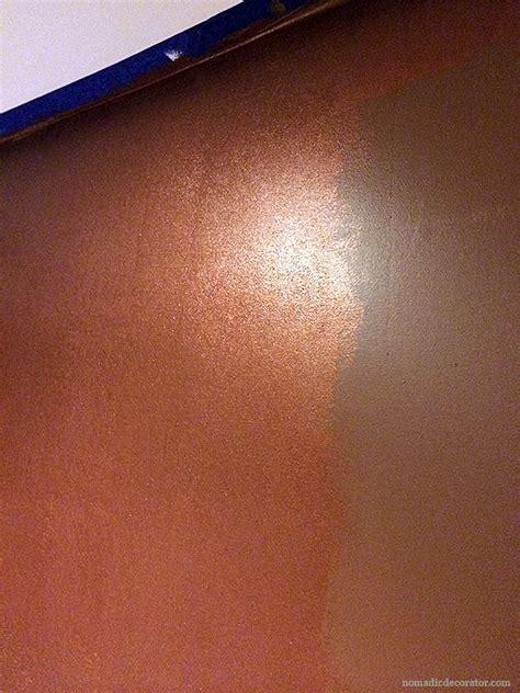 shimmery metallic copper wall  modern masters