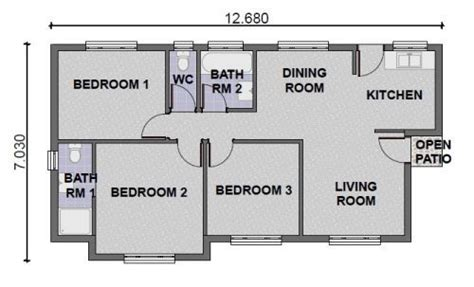 three roomed house plan 3 bedroom tuscan house plans in south africa nrtradiant