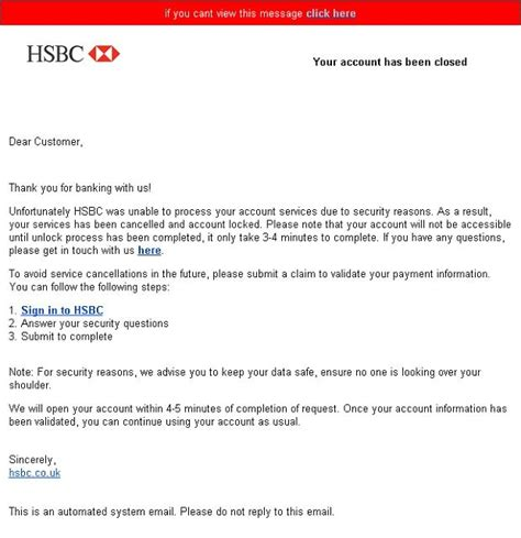 hsbc bank accounts uk hsbc and natwest scam emails don t be the chump who