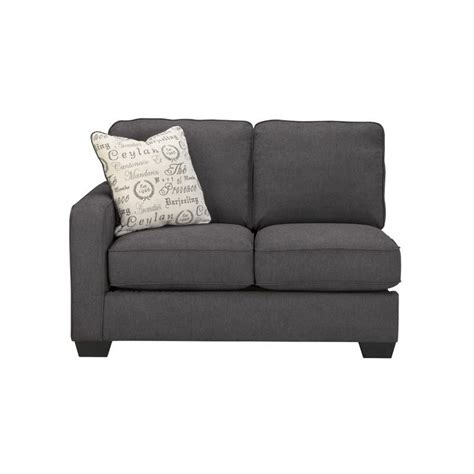 Furniture Alenya by Furniture Alenya 2 Sectional In Charcoal