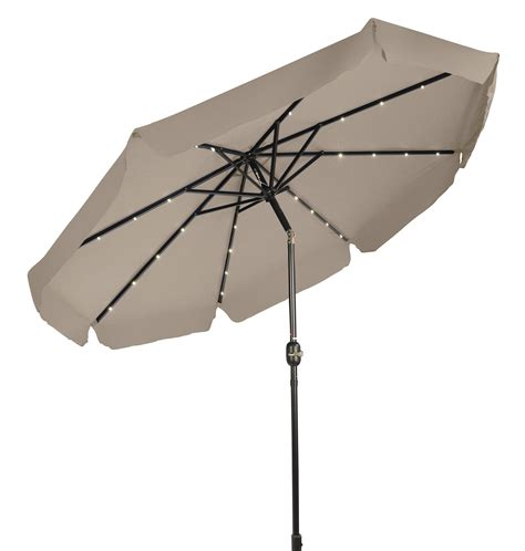 Fancy Patio Umbrellas Deluxe Led Lighted Umbrella Decorative Edges 9 By Trademark Innovations Ebay