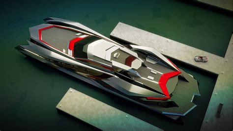 grey layout boat futuristic kraken yacht by gray design gtspirit