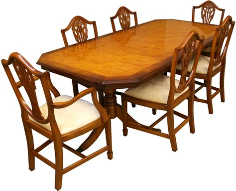 Yew Dining Table Yew And Mahogany Reproduction Inadam Dining Tables A1 Furniture