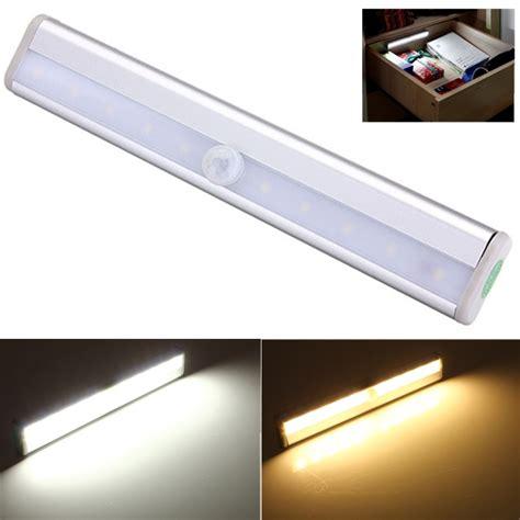 led night light sensor motion activated stairway kitchen 10 led pir motion sensor light for cabinet wardrobe