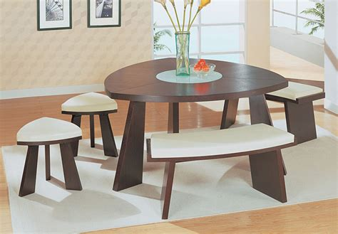 triangle table with bench modern line furniture commercial furniture custom made