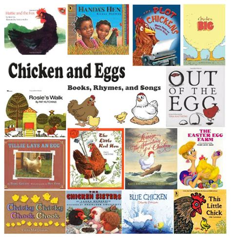 chicken hens and eggs books rhymes and songs