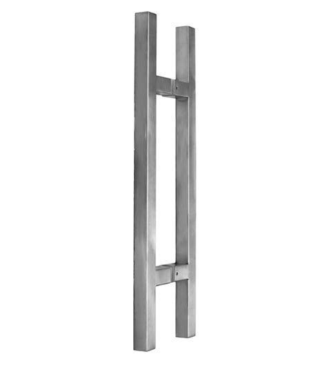 2 Foot Modern Glass Door Handles Pair Satin Stainless Handle For Glass Door