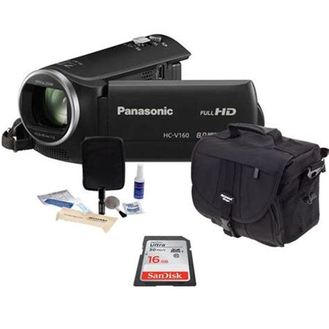 Handycam Panasonic Hc V160 panasonic hc v160 hd camcorder with basic accessory