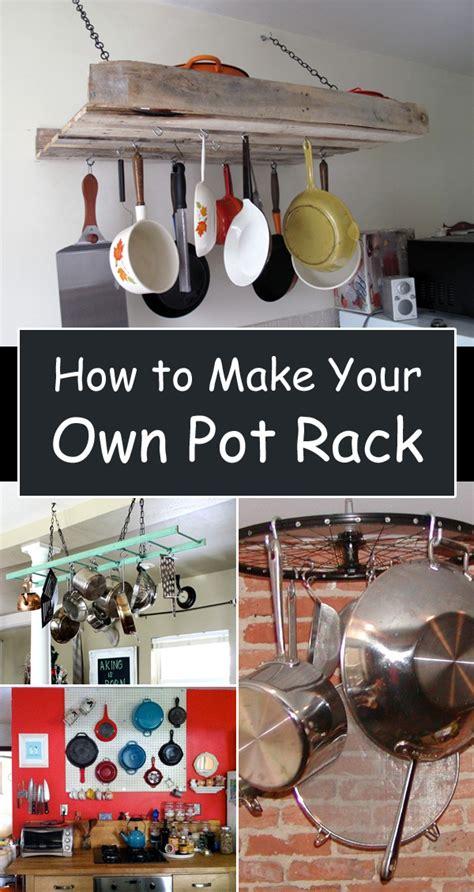 kitchen pot rack ideas kitchen storage ideas how to your own pot rack