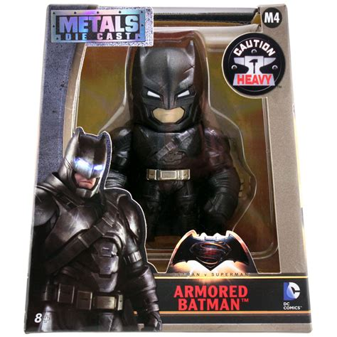 Armored Batman Metal Die Cast M4 dc comics batman v superman armored batman metal die cast 4 quot figure m4 ebay
