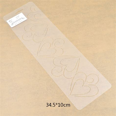 plastic clear quilting stencil template for craft stitch