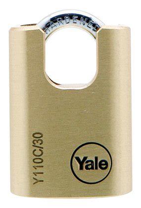 Gembok Yale Padlock Y 110 jual yale brass padlock closed shackle y110c 30 115 1